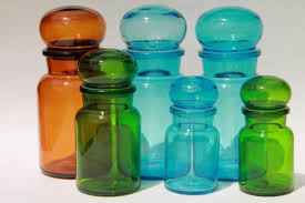colored glass kitchen canisters colored glass bottles vintage kitchen canisters airtight seal