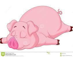 cute pig cartoon sleeping stock vector image farm 34612733