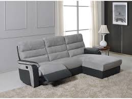 canapé d angle relax manuel 5 places mike coloris gris anthracite