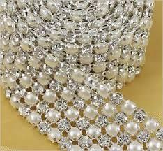 pearl ribbon diamante pearl ribbon banding for wedding cake decoration 1
