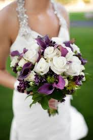 purple wedding bouquets purple wedding bouquets with pretty details modwedding