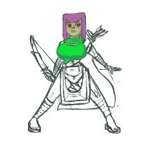 clash of clans fan art image gallery of archer queen clash of clans drawing