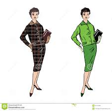 stylish fashion dressed 1950s 1960s style stock vector