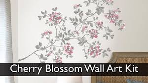 cherry blossom wall art decal kit youtube