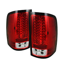 aftermarket lights for trucks 07 13 gmc sierra pickup truck led tail lights red 111 gs07 led rc