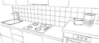 dessiner cuisine croquis de dessin du comptoir de cuisine image stock image du