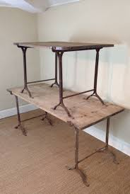 trestle tables for sale two victorian pine and iron trestle tables 285049