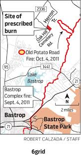 bastrop state park map after wildfires central officials promote prescribed