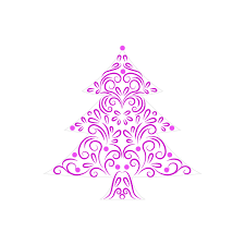 purple christmas tree clipart clipartxtras