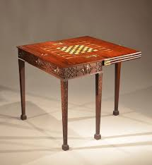 chippendale games table triple top