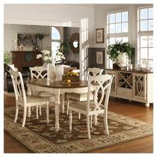 Extending Dining Table And Chairs 5 Piece Wakefield Extendable Dining Set Wood Off White Inspire Q