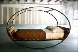 modern metal wood headboard footboard rocking bed frame furniture