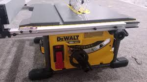 dewalt table saw review dewalt flexvolt table saw dcs7485b quick unboxing review youtube