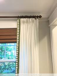 ikea ritva curtains customized with contrast edge band pompom