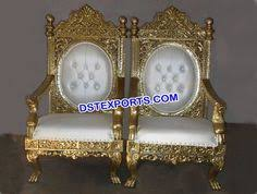 indian wedding chairs for and groom wedding brass metal big chairs dstexports wedding
