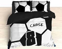 Custom Made Comforters Soccer Bedding Etsy
