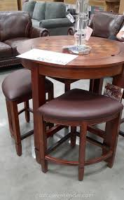 Costco Leather Dining Chairs Universal Furniture Broadmoore Flannery 5 Piece Counter Height