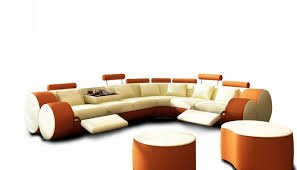 Orange Leather Sectional Sofa Orange Sectional Sofa Russcarnahan