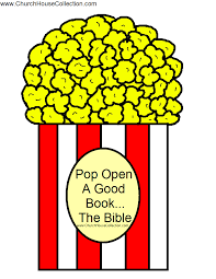 pop open a good book the bible popcorn template
