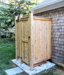How To Build An Outdoor Shower Enclosure - outdoor shower enclosure cedar showers ct nh ri vt me ny nj