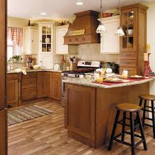starmark cabinetry two tone kitchen in quarter sawn oak and maple