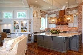 kitchen with brick backsplash brick backsplash gray brick gray brick gray brick white and gray