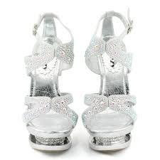 Rhinestone Sandal Heels Gorgeous Open Toe Platform Rhinestone Wedding Evening Sandals