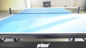 prince fusion elite ping pong table prince pt9 advantage ping pong table review youtube