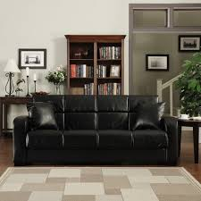 handy living turco convert a couch black renu leather futon sofa