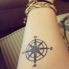 right forearm compass tattoo tatty tats pinterest compass
