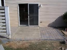 amusing concrete slab patio ideas with interior home paint color