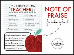 a pbis idea positive notes home the brown bag teacher
