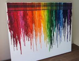 Hair Dryer Glue canvas glue crayons and a hair dryer i could totally do this
