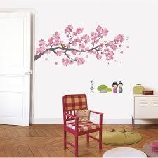 Peinture Cerisier Japonais by Sticker Branches Cerisiers 49 Cm X 69 Cm Leroy Merlin