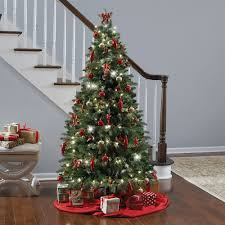 Home Decorated Christmas Trees by The Instant Fully Decorated Christmas Tree Hammacher Schlemmer