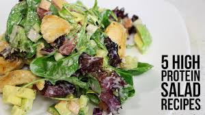 5 high protein salad recipes youtube