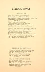 Youre A Grand Old Flag Lyrics Celebrating 125 Years Of Whitworth The Alma Mater And Fight Song