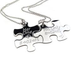 Engraved Necklaces For Couples Her One His Only Etsy