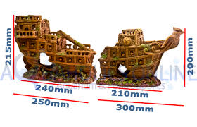 ornament large pirate ship aquarium aqua display fish tank resin