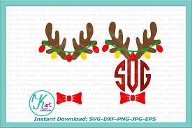 cocktail svg reindeer antlers monogram svg antlers design bundles