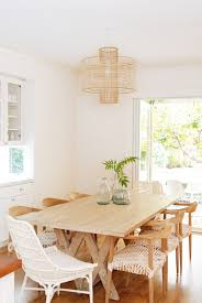 Anthropologie Dining Room Rattan Dining Chairs Design Ideas