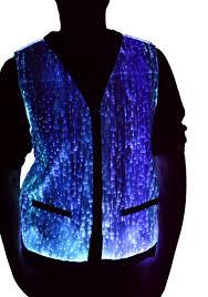 tryptix fiber optic color changing vest burning man digital