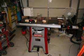 table saw reviews fine woodworking review craftsman 10 contractor table saw model 21833 alignment