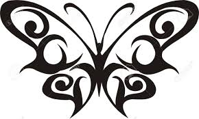 tribal butterflies vector illustration ready for vinyl cutting