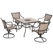 Motion Patio Chairs Hampton Bay Andrews 5 Piece Patio Dining Set T05f2u0q0056r The