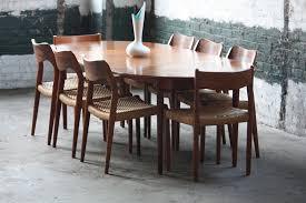 mid century walnut dining table mid century modern dining table table design warmth mid century