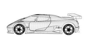 koenigsegg car drawing 3d model koenigsegg ccgt sport car cgtrader