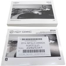 2014 chevy impala canadian owners manual u0026 warranty booklet