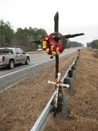 roadside memorial crosses dot says roadside memorials to victims must go