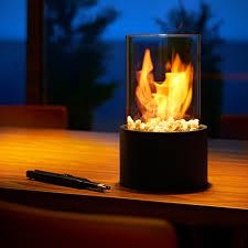 pro idee küche tischkamin für bioethanol 16 cm durchmesser 26 5 cm höhe